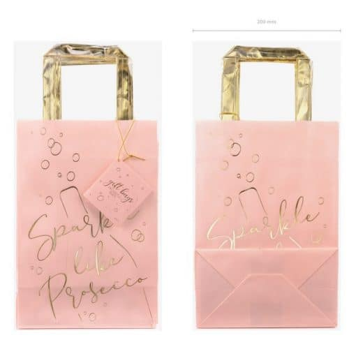 bruiloft-decoratie-papieren-tasjes-prosecco-pink-gold