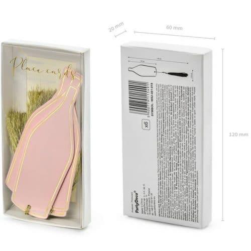 bruiloft-decoratie-plaatskaartjes-pink-bottle