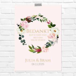 bruiloft-decoratie-poster-bedankjes-burgundy-rose-nl