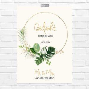bruiloft-decoratie-poster-bedankjes-gold-greenery-nl