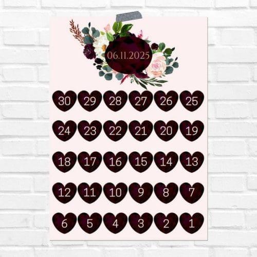 bruiloft-decoratie-poster-days-until-we-do-burgundy-rose-eng