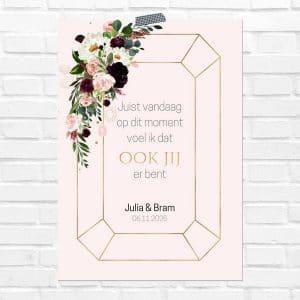bruiloft-decoratie-poster-in-liefdevolle-herinnering-burgundy-rose-nl
