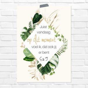 bruiloft-decoratie-poster-in-liefdevolle-herinnering-gold-greenery-nl