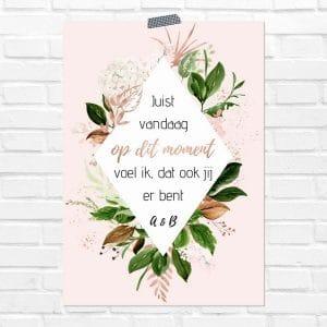 bruiloft-decoratie-poster-in-liefdevolle-herinnering-rose-gold-greenery-nl