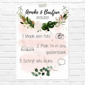 bruiloft-decoratie-poster-photobooth-rose-gold-greenery-nl