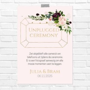 bruiloft-decoratie-poster-unplugged-ceremony-burgundy-rose-nl