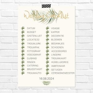bruiloft-decoratie-poster-wedding-checklist-gold-greenery-nl