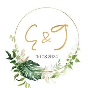bruiloft-decoratie-stickers-initialen-gold-greenery