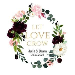bruiloft-decoratie-stickers-let-love-grow-burgundy-rose
