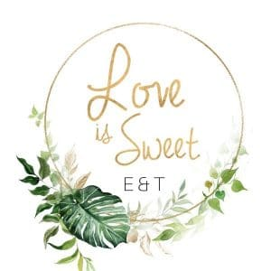 bruiloft-decoratie-stickers-love-is-sweet-gold-greenery