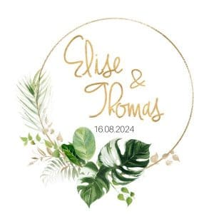 bruiloft-decoratie-stickers-namen-gold-greenery