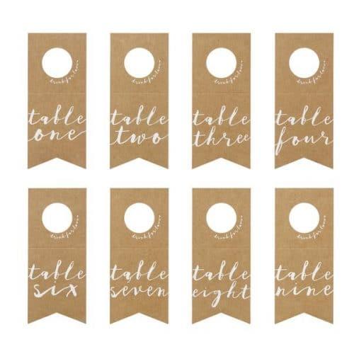 bruiloft-decoratie-tafelnummers-kraft-bottle-holder