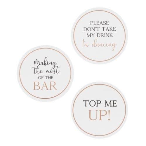 bruiloft-decoratie-drank-tokens-botanical-wedding