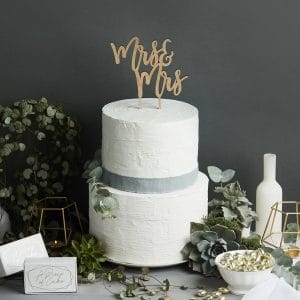 bruiloft-decoratie-homohuwelijk-houten-cake-topper-mrs-mrs-geometric-greenery-2