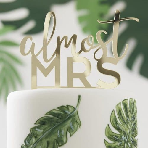 vrijgezellenfeest-versiering-acryl-cake-topper-almost-mrs-botanical-hen-2