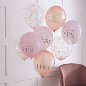vrijgezellenfeest-versiering-ballonnen-mix-blush-hen-2