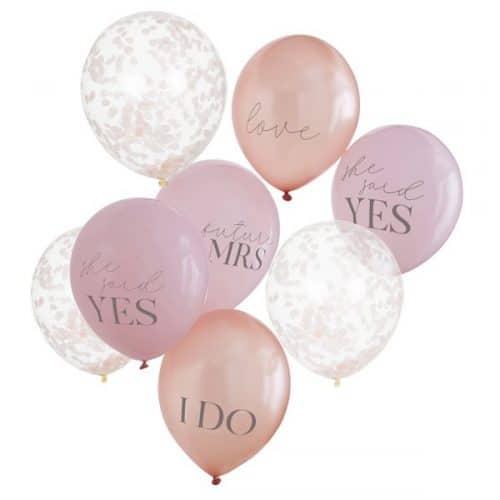 vrijgezellenfeest-versiering-ballonnen-mix-blush-hen