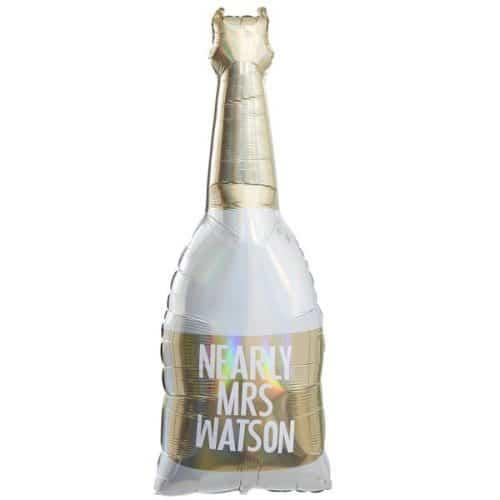 vrijgezellenfeest-versiering-folieballonnen-champagnefles-botanical-hen-gepersonaliseerd-2