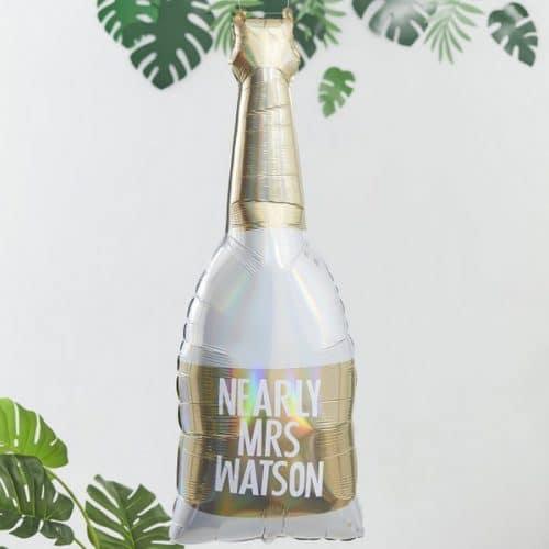 vrijgezellenfeest-versiering-folieballonnen-champagnefles-botanical-hen-gepersonaliseerd-3
