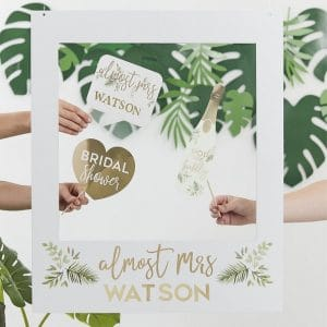 vrijgezellenfeest-versiering-photobooth-frame-botanical-hen-gepersonaliseerd-2