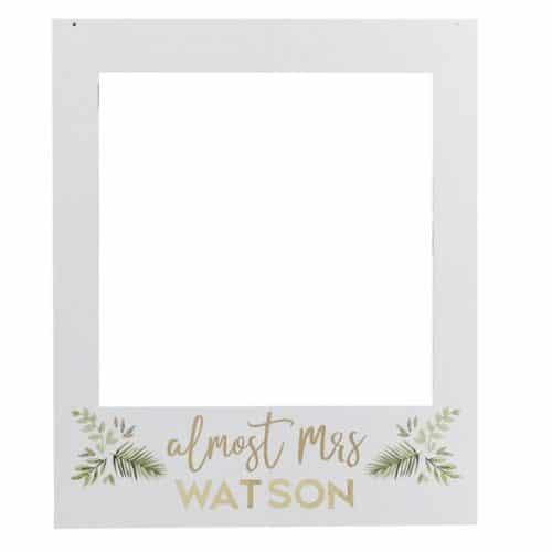 vrijgezellenfeest-versiering-photobooth-frame-botanical-hen-gepersonaliseerd
