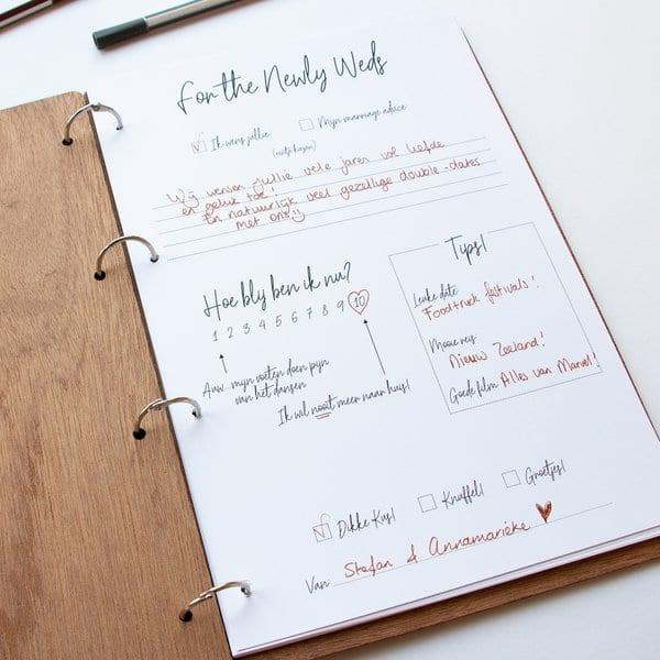 Wonderbaarlijk Gastenboek Hout – This love is ours gepersonaliseerd – Bruiloft WM-05