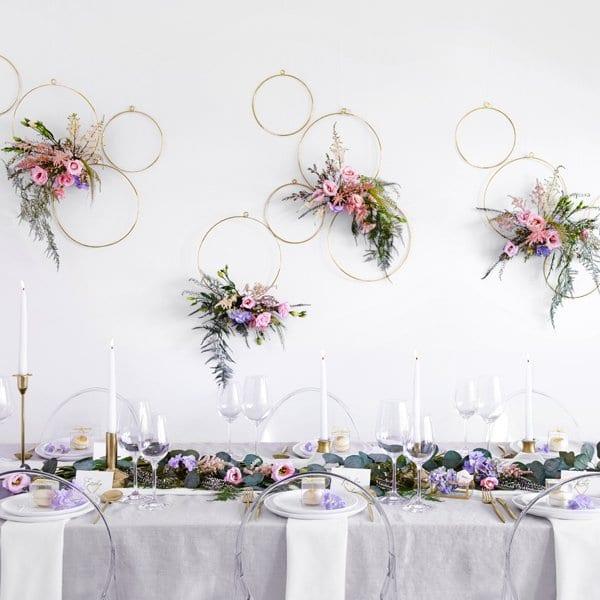 Metalen Decoratie Hoepels Natural Christmas 2st Bruiloft Decoratie What A Wonderful Wedding