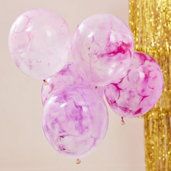Diy Marble Ballonnen Mix It Up Pastel 5st