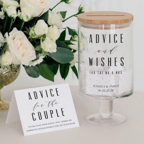 bruiloft-decoratie-gastenboek-advice-and-wishes-gepersonaliseerd
