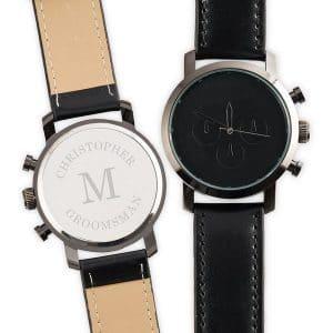 bruiloft-decoratie-horloge-black-monogram-gepersonaliseerd-2