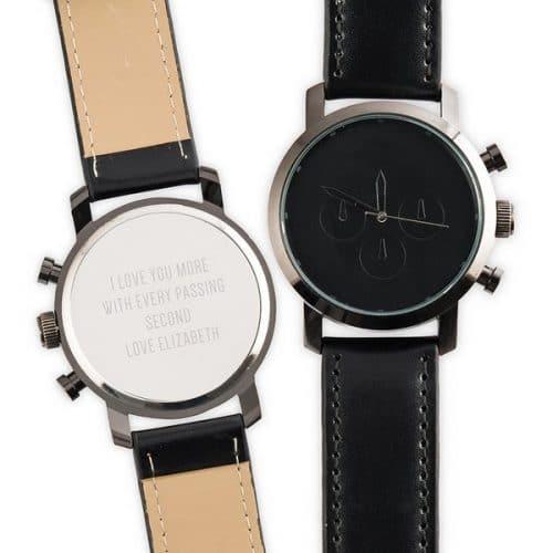 bruiloft-decoratie-horloge-custom-black-gepersonaliseerd-2