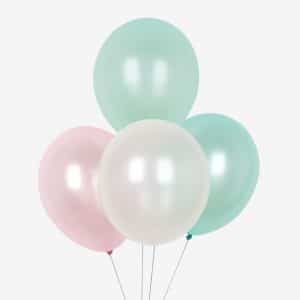 bruiloft-decoratie-ballonnen-mix-pink-and-mint-metallic