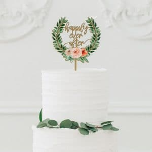 bruiloft-decoratie-houten-cake-topper-happily-ever-after-floral4
