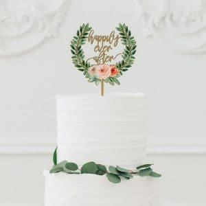 bruiloft-decoratie-houten-cake-topper-happily-ever-after-floral4