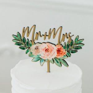 bruiloft-decoratie-houten-cake-topper-mr-mrs-floral5
