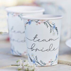 vrijgezellenfeest-artikelen-papieren-bekertjes-team-bride-boho-floral-2